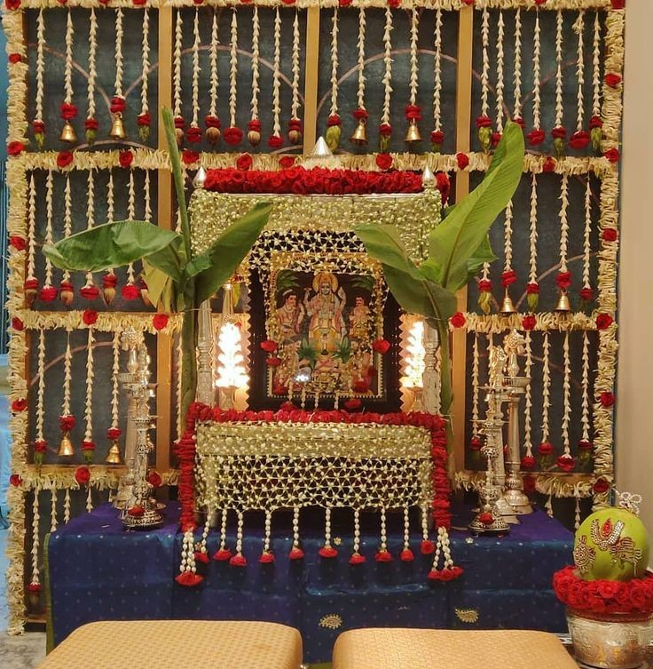 Satyanarayana swamy pooja decoration