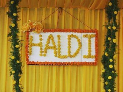 Haldi Backdrop